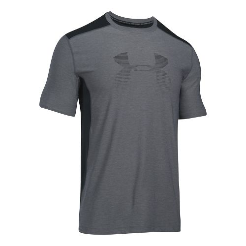 Mens Under Armour Raid Graphic Short Sleeve Technical Tops - Graphite M