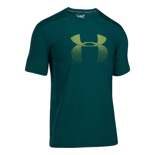 Mens Under Armour Raid Graphic Short Sleeve Technical Tops - Arden Green L