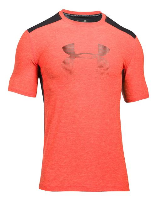 Mens Under Armour Raid Graphic Short Sleeve Technical Tops - Marathon Red S