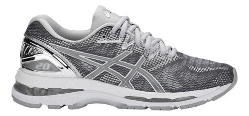 Womens ASICS GEL-Nimbus 20 Platinum Running Shoe - Carbon/Silver 7