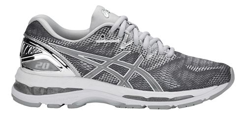 Womens ASICS GEL-Nimbus 20 Platinum Running Shoe - Carbon/Silver 9.5