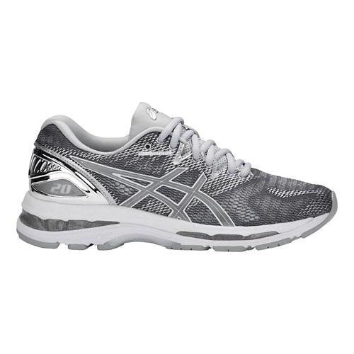 Womens ASICS GEL-Nimbus 20 Platinum Running Shoe - Carbon/Silver 9.5