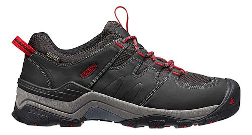 Mens Keen Gypsum II WP Hiking Shoe - Black/Tango 7