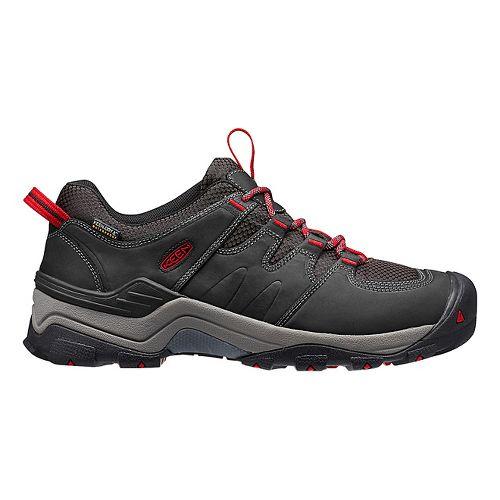 Mens Keen Gypsum II WP Hiking Shoe - Black/Tango 11.5