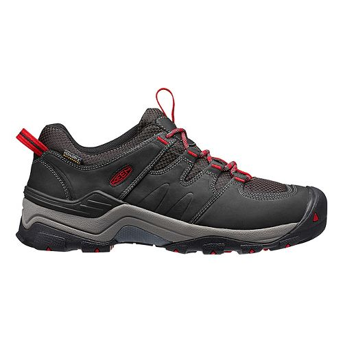 Mens Keen Gypsum II WP Hiking Shoe - Black/Tango 8