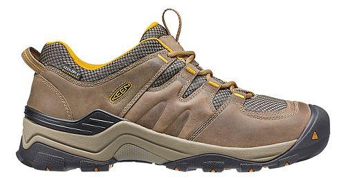Mens Keen Gypsum II WP Hiking Shoe - Brown/Yellow 11.5