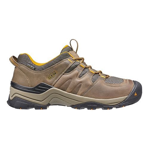 Mens Keen Gypsum II WP Hiking Shoe - Brown/Yellow 8