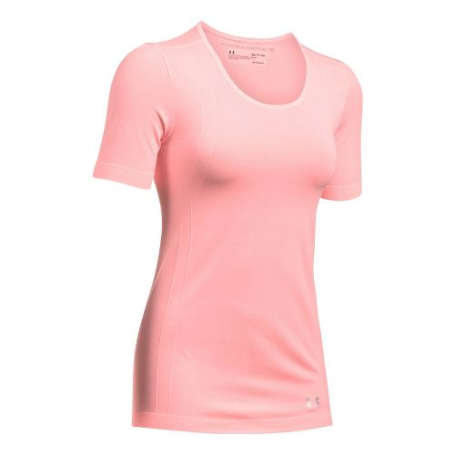 Womens Under Armour Threadborne Seamless Heather Short Sleeve Technical Tops - Cape Coral M