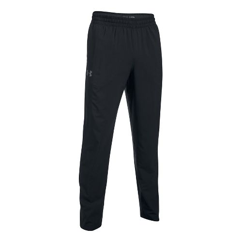 Mens Under Armour Tricot Lined Warm-Up Pants - Black L