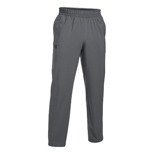 Mens Under Armour Tricot Lined Warm-Up Pants - Graphite XL-T