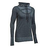 Womens Under Armour Threadborne Seamless Heather Funnel Neck Short Sleeve Technical Tops - ...