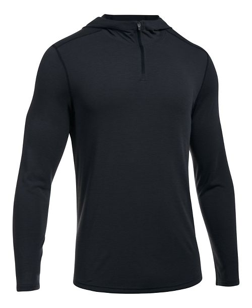 Mens Under Armour Threadborne Knit Half-Zips & Hoodies Technical Tops - Black XL