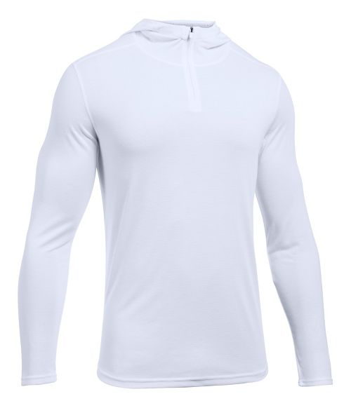 Mens Under Armour Threadborne Knit Half-Zips & Hoodies Technical Tops - White S