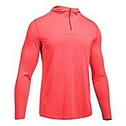 Mens Under Armour Threadborne Knit Half-Zips & Hoodies Technical Tops - Marathon Red L