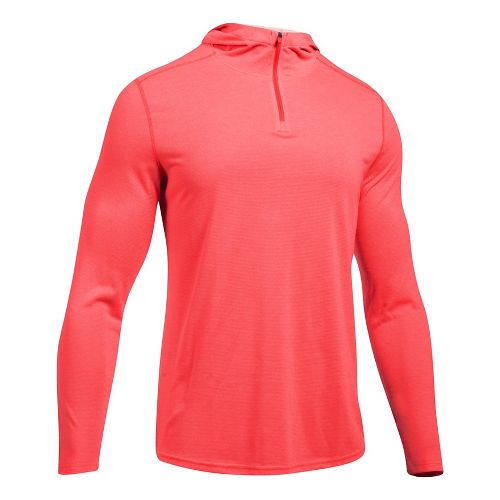 Mens Under Armour Threadborne Knit Half-Zips & Hoodies Technical Tops - Marathon Red XXL