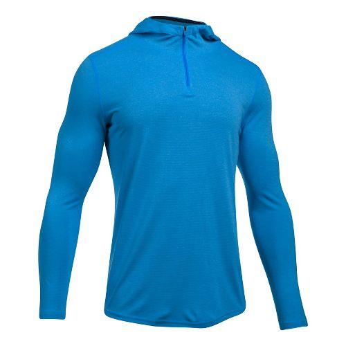 Mens Under Armour Threadborne Knit Half-Zips & Hoodies Technical Tops - Mako Blue M