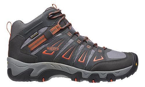 Mens Keen Oakridge Mid WP Hiking Shoe - Raven/Burnt Ochre 11