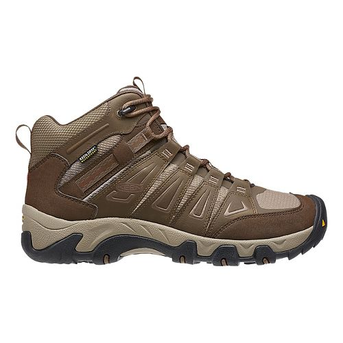 Mens Keen Oakridge Mid WP Hiking Shoe - Cascade/Brindle 17