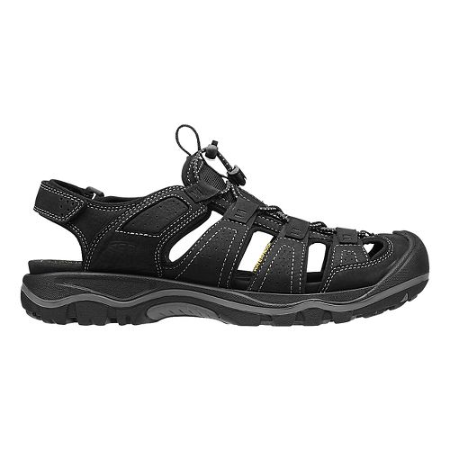 Mens Keen Rialto Sandals Shoe - Bison/Black 7.5