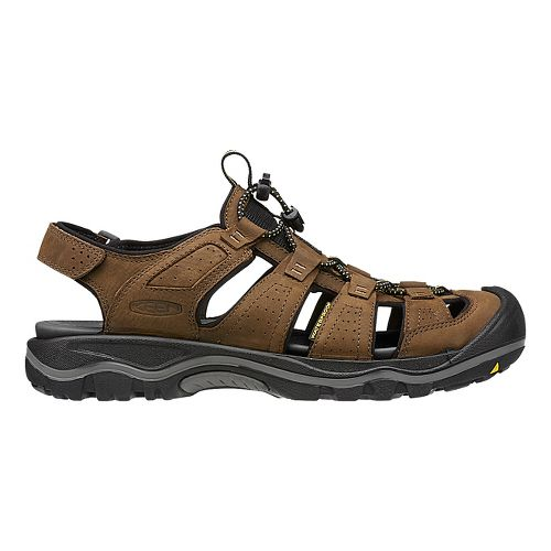 Mens Keen Rialto Sandals Shoe - Black/Gargoyle 8
