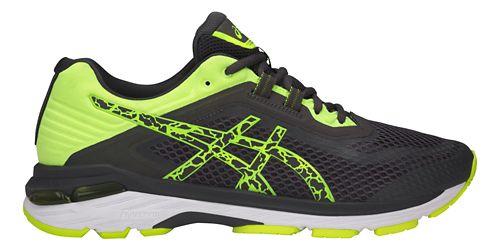 Mens ASICS GT-2000 6 Lite-Show Running Shoe - Dark Grey/Yellow 8