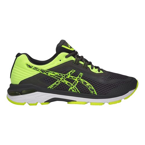 Mens ASICS GT-2000 6 Lite-Show Running Shoe - Dark Grey/Yellow 8