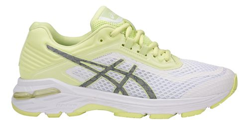 Womens ASICS GT-2000 6 Lite-Show Running Shoe - White/Yellow 7.5