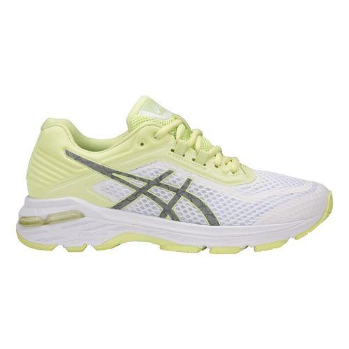 Womens ASICS GT-2000 6 Lite-Show Running Shoe - White/Yellow 6.5