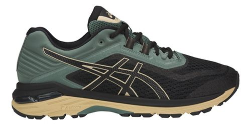 Mens ASICS GT-2000 6 Trail Running Shoe - Black/Forest 12