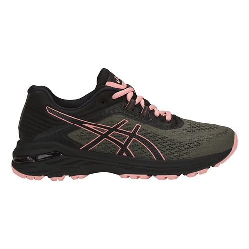 Womens ASICS GT-2000 6 Trail Running Shoe - Green/Black 10.5