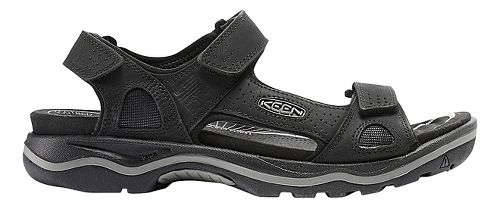 Mens Keen Rialto 3 Point Sandals Shoe - Black/Grey 8