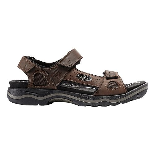 Mens Keen Rialto 3 Point Sandals Shoe - Earth/Black 7.5