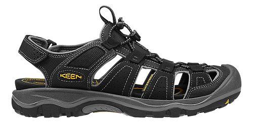 Mens Keen Rialto H2 Sandals Shoe - Black/Gargoyle 7