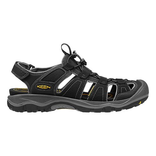 Mens Keen Rialto H2 Sandals Shoe - Black/Gargoyle 7