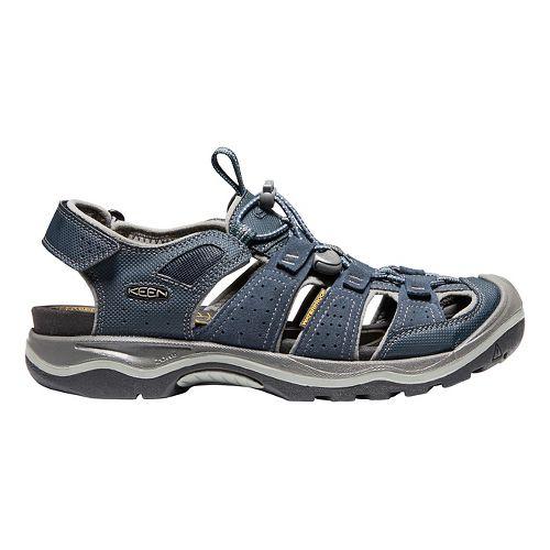Mens Keen Rialto H2 Sandals Shoe - Blue Dress 10.5
