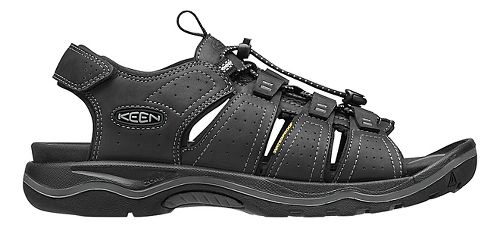 Mens Keen Rialto Open Toe Sandals Shoe - Black/Grey 10.5