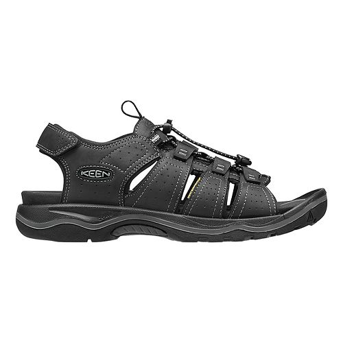 Mens Keen Rialto Open Toe Sandals Shoe - Black/Grey 7.5