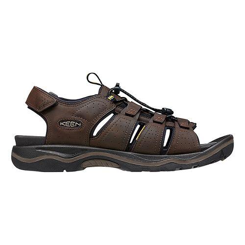 Mens Keen Rialto Open Toe Sandals Shoe - Black/Grey 7.5