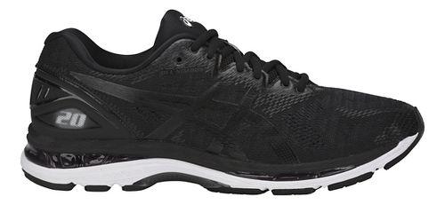 Mens ASICS GEL-Nimbus 20 Running Shoe - Black/White 14