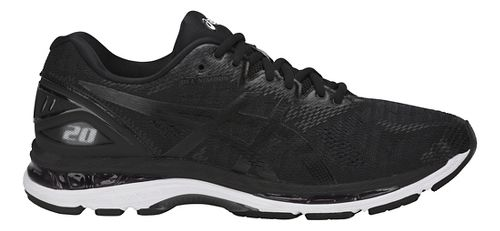 Mens ASICS GEL-Nimbus 20 Running Shoe - Black/White 8.5
