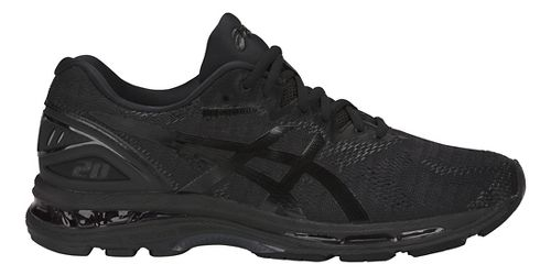 Mens ASICS GEL-Nimbus 20 Running Shoe - Black/Black 7.5