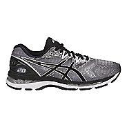 Mens ASICS GEL-Nimbus 20 Running Shoe - Silver/Black 6.5