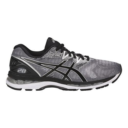 Mens ASICS GEL-Nimbus 20 Running Shoe - Silver/Black 11.5