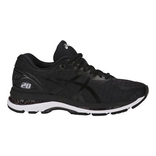 Womens ASICS GEL-Nimbus 20 Running Shoe - Black/White 11.5