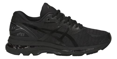 Womens ASICS GEL-Nimbus 20 Running Shoe - Black/Black 8.5