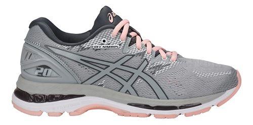 Womens ASICS GEL-Nimbus 20 Running Shoe - Grey/Pink 6.5