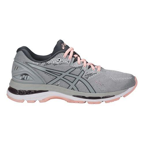 Womens ASICS GEL-Nimbus 20 Running Shoe - Grey/Pink 11