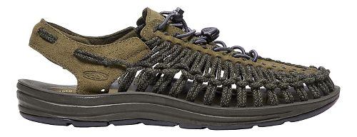 Mens Keen Uneek Leather Casual Shoe - Olive/Black Olive 13