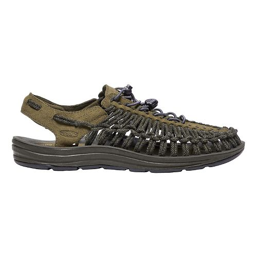 Mens Keen Uneek Leather Casual Shoe - Olive/Black Olive 14