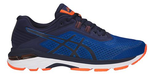 Mens ASICS GT-2000 6 Running Shoe - Blue/Orange 10